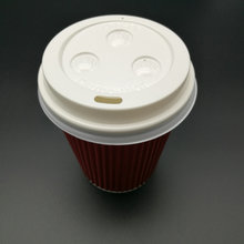 flat plastic lid for cold and hot drinks